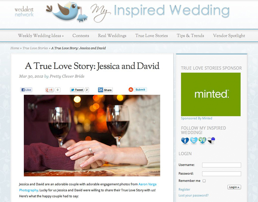 Aaron Varga Photography Featured | Featured! | Jessica + Dave | My Inspired Wedding