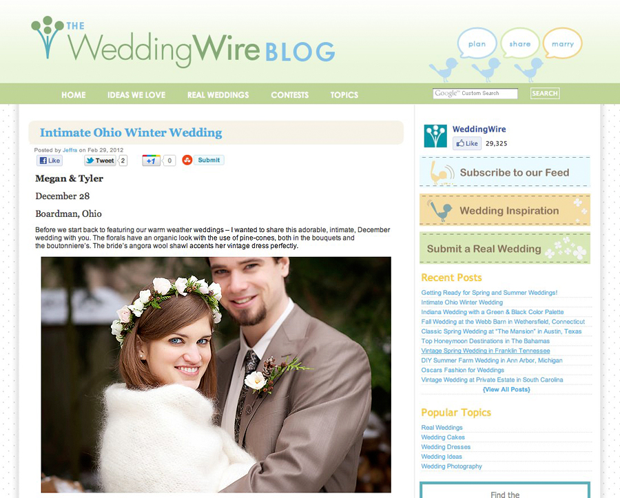 Featured Ohio Wedding Photographer - Featured! | Megan + Tyler | WeddingWire