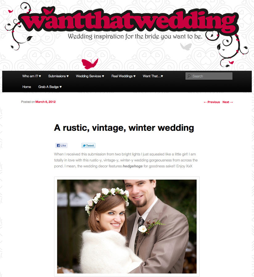 www | Featured! | Megan + Tyler | WantThatWedding