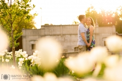Spring Sunset Engagement Photo