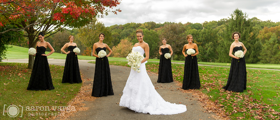 Fall Wedding With Black Bridesmaid Dresses : Fall wedding black bridesmaids dresses carolyn mark wildwood