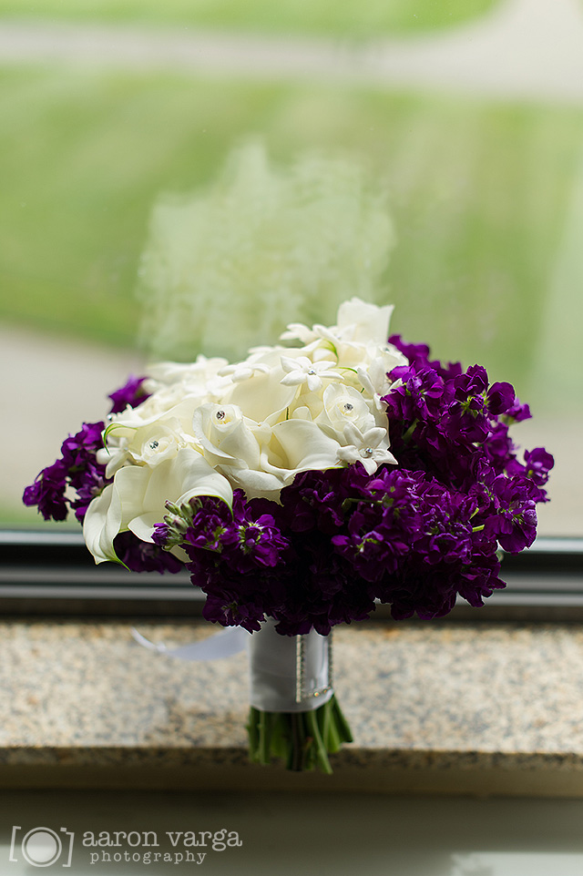 10  - white purple wedding flowers