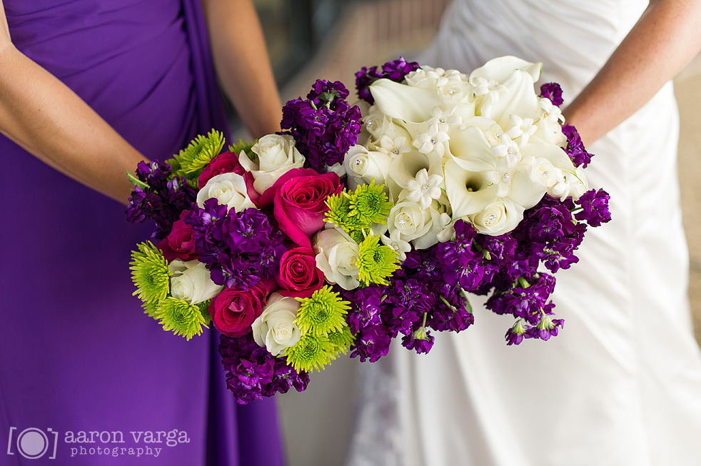 19  - purple white bouquets wedding