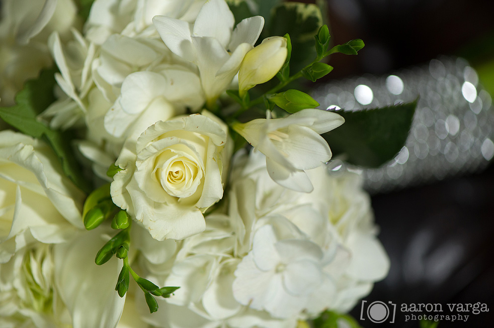 21  - ivory wedding flowers sparkly details