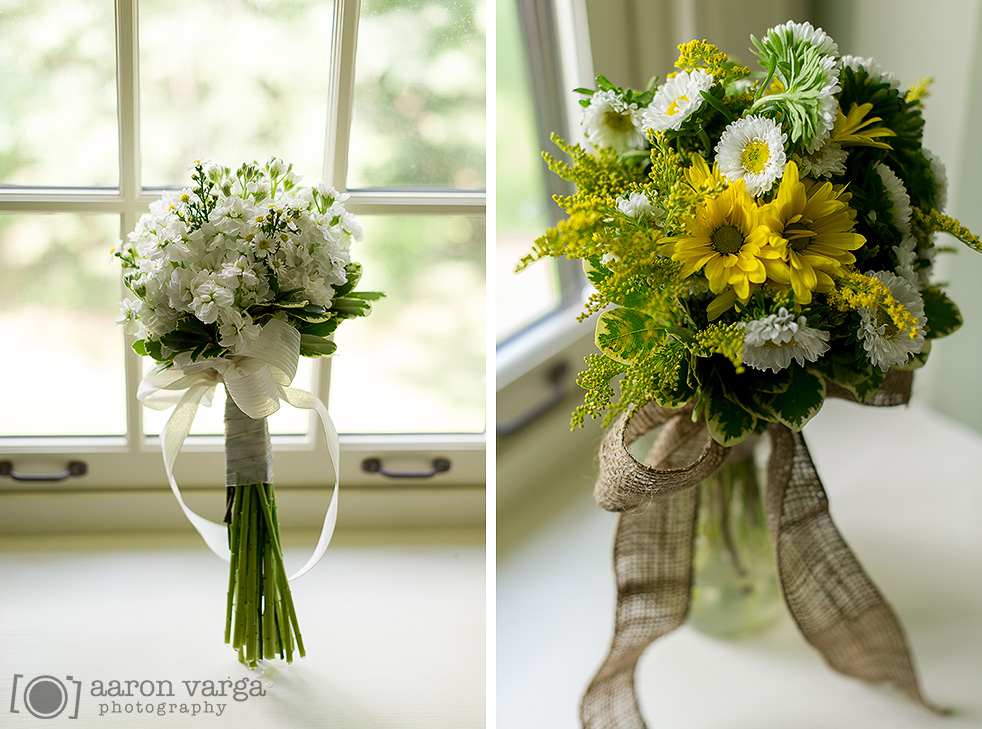22  - yellow white bouquet burlap
