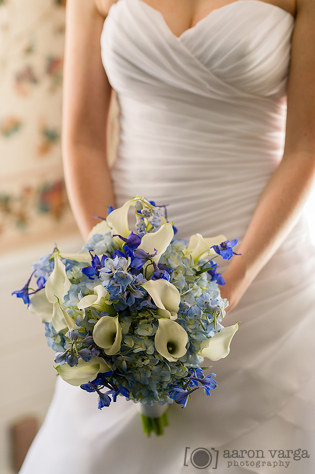 23  - blue white ivory wedding bouquet