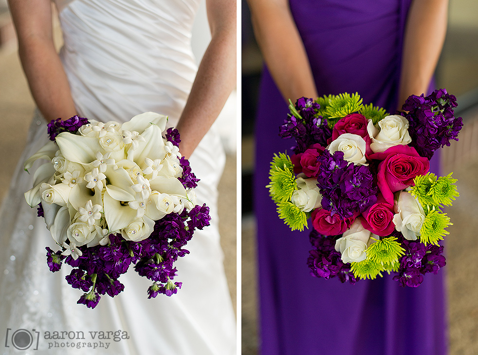 24  - purple white wedding bridesmaids flowers