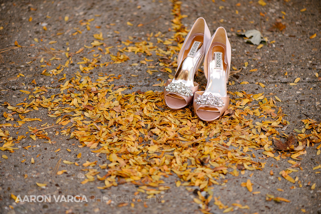 01 pink badgley mischka wedding shoes - Gina + Chris | Oglebay Resort Wedding Photos