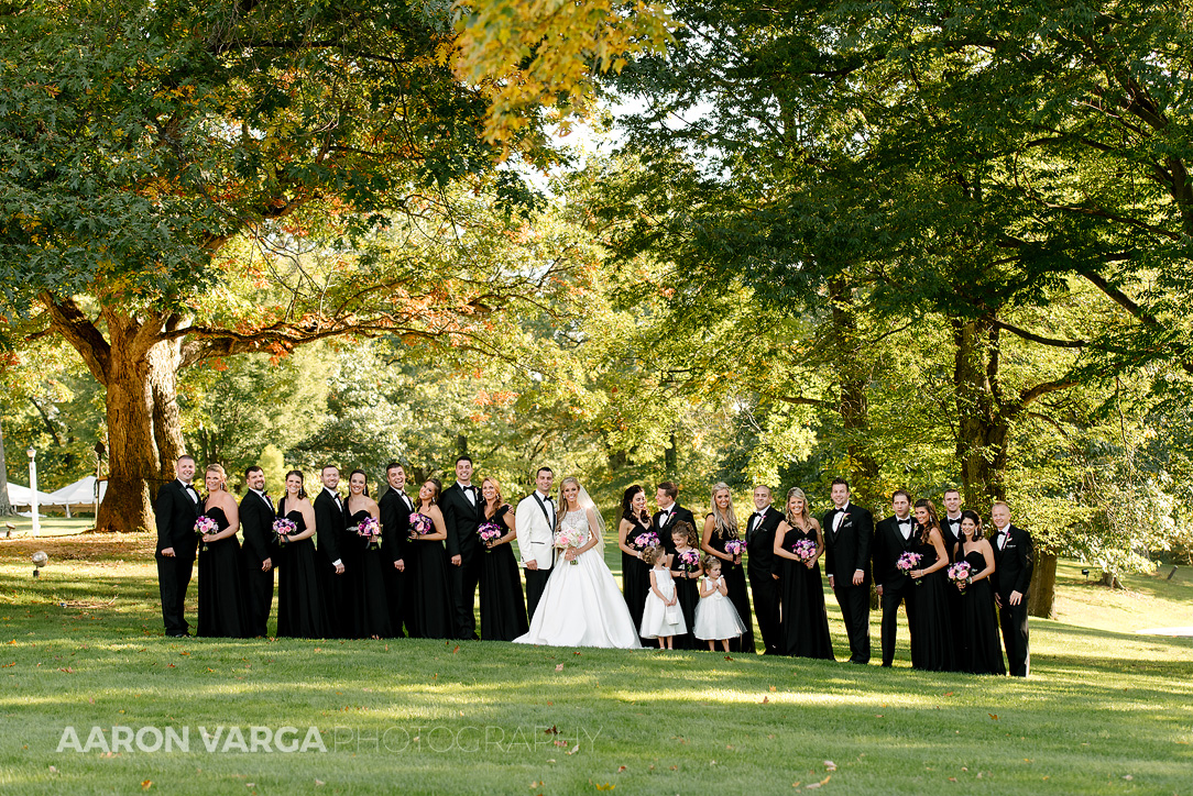 14 huge bridal party - Gina + Chris | Oglebay Resort Wedding Photos