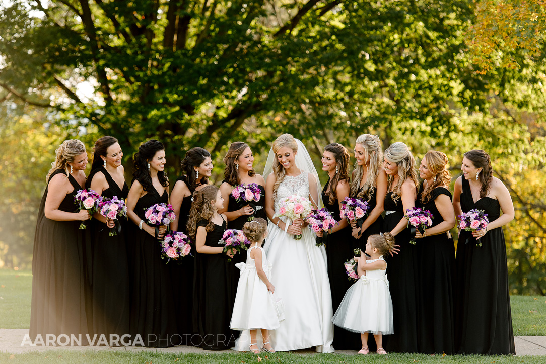 16 black bridesmaid dresses wedding - Gina + Chris | Oglebay Resort Wedding Photos