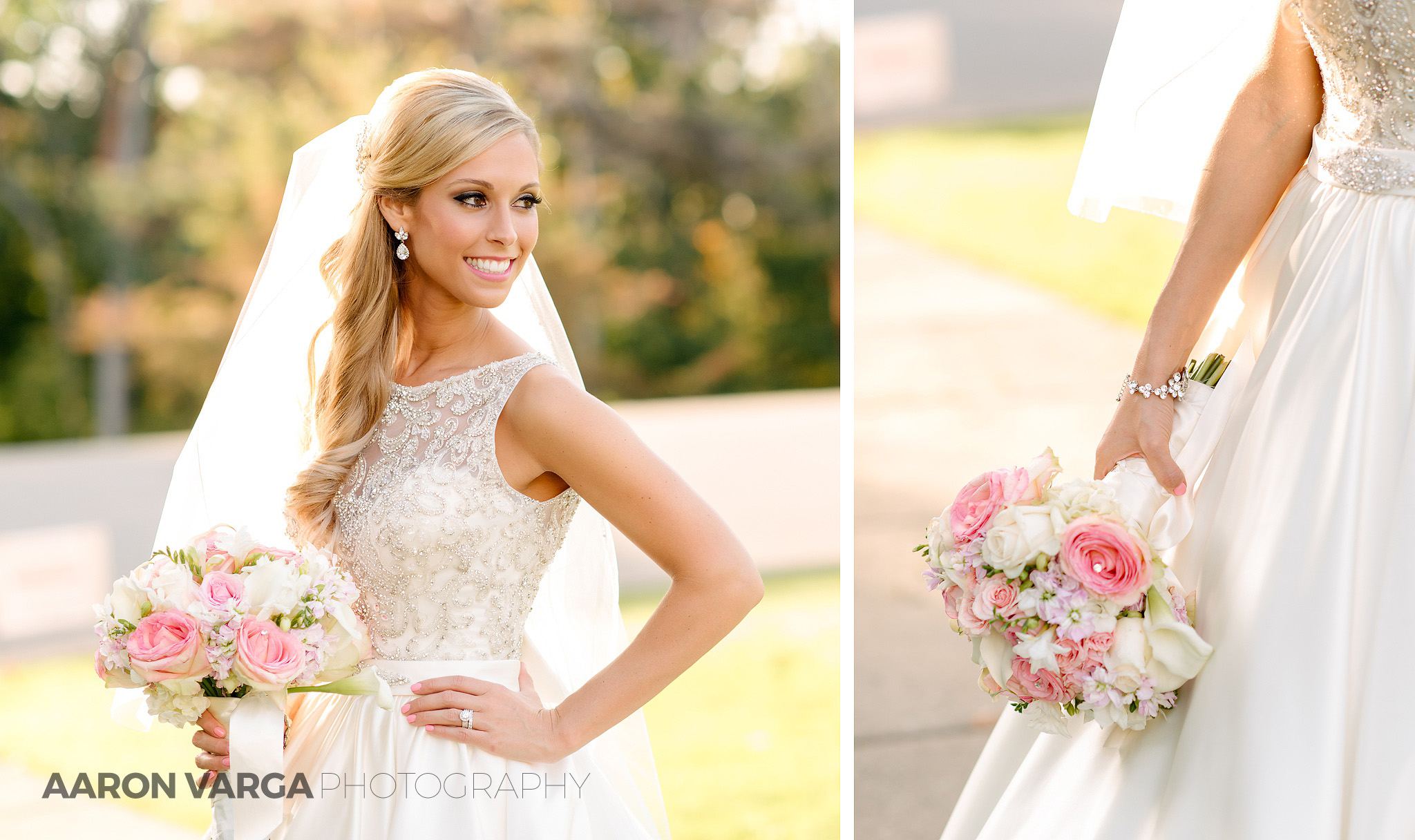19 bride pink white wedding bouquet - Gina + Chris | Oglebay Resort Wedding Photos