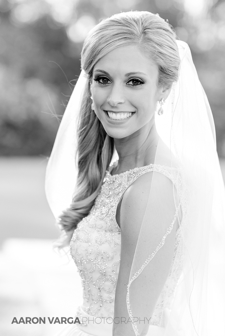 20 black white bride portrait - Gina + Chris | Oglebay Resort Wedding Photos