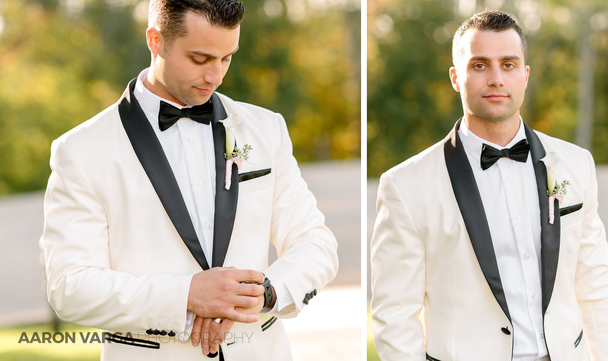 22 ivory tuxedo groom - Gina + Chris | Oglebay Resort Wedding Photos