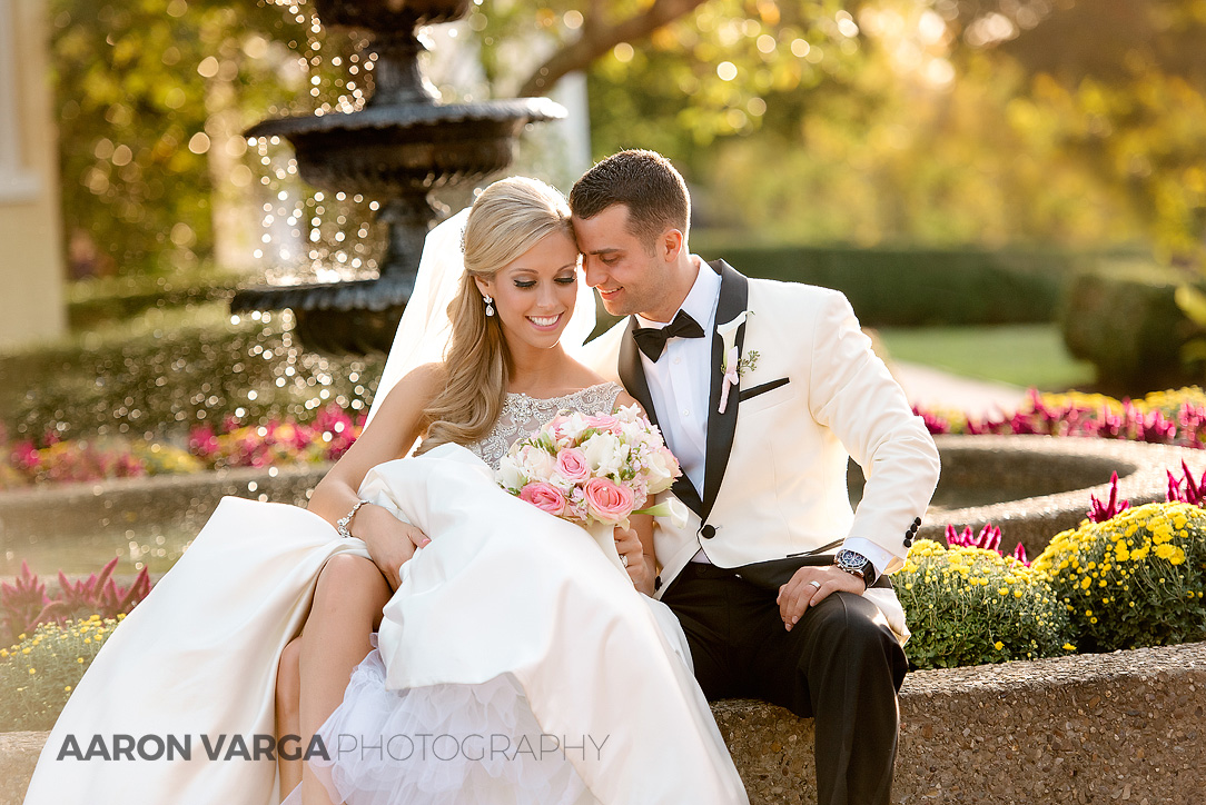 34 romantic sunset fountain wedding photo - Gina + Chris | Oglebay Resort Wedding Photos