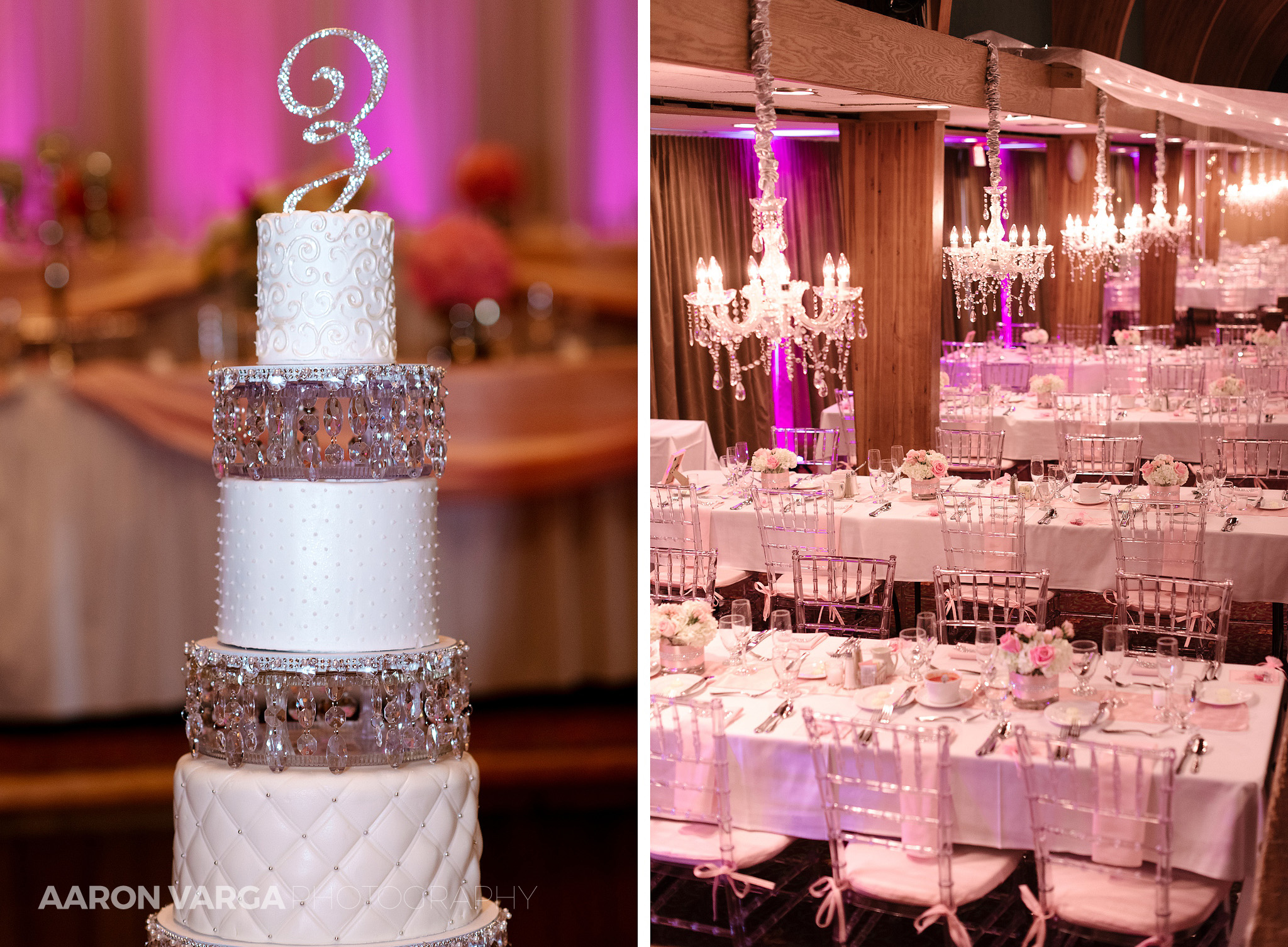 39 pink wedding reception details - Gina + Chris | Oglebay Resort Wedding Photos