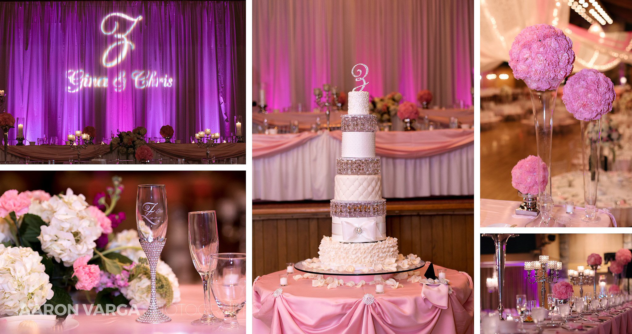 41 huge wedding cake pink purple - Gina + Chris | Oglebay Resort Wedding Photos
