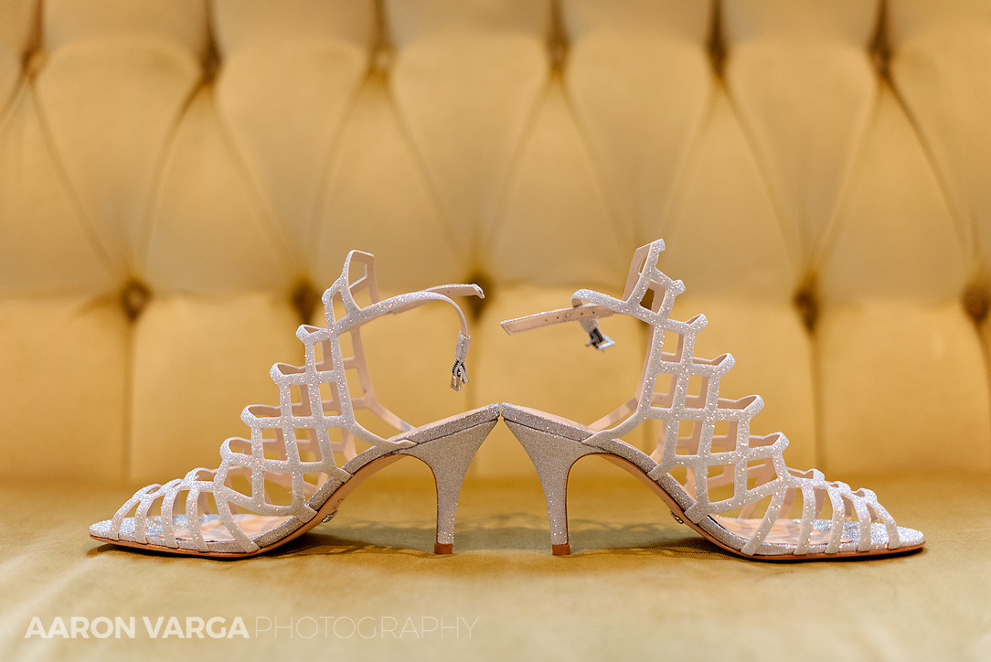 01 hotel monaco wedding details shoes - Mimi + Mike | Hotel Monaco and J. Verno Studios Wedding Photos