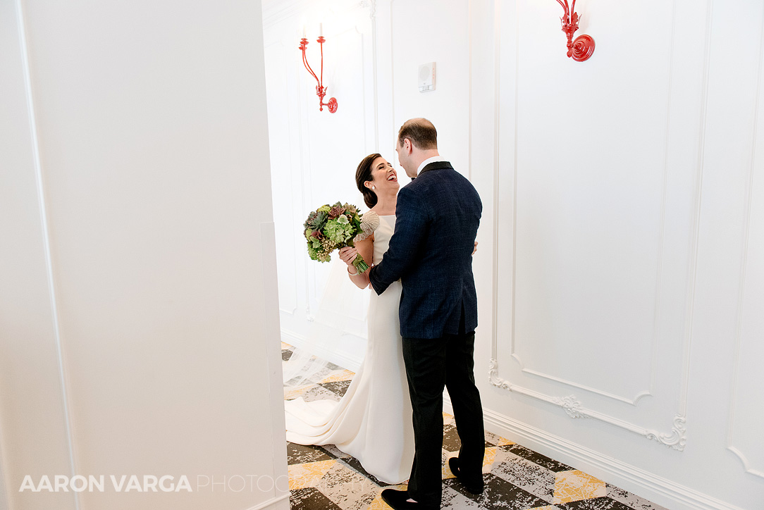 12 hotel monaco wedding first look - Mimi + Mike | Hotel Monaco and J. Verno Studios Wedding Photos