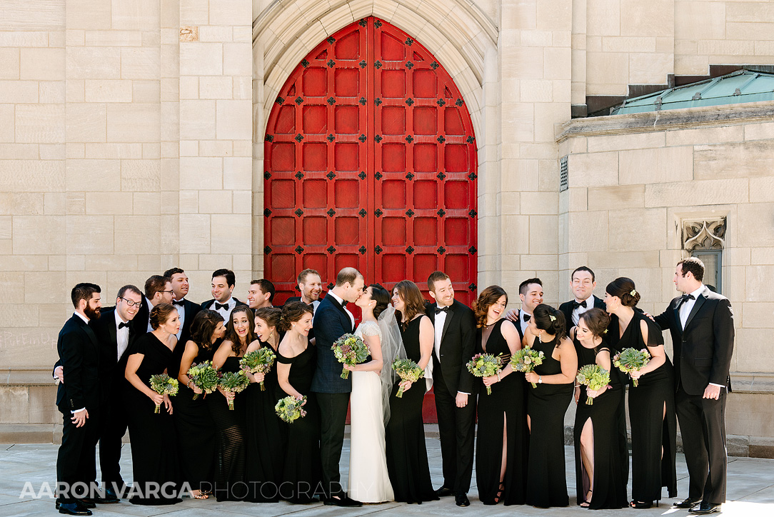 14 large bridal party portrait pitt - Mimi + Mike | Hotel Monaco and J. Verno Studios Wedding Photos