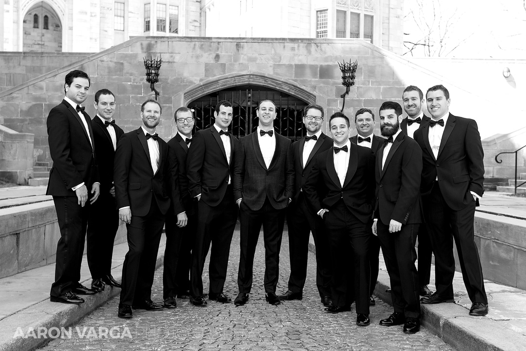 16 groomsmen portrait pittsburgh - Mimi + Mike | Hotel Monaco and J. Verno Studios Wedding Photos