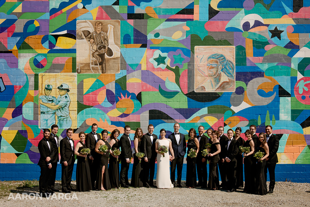 25 colorful mural wedding photo - Mimi + Mike | Hotel Monaco and J. Verno Studios Wedding Photos