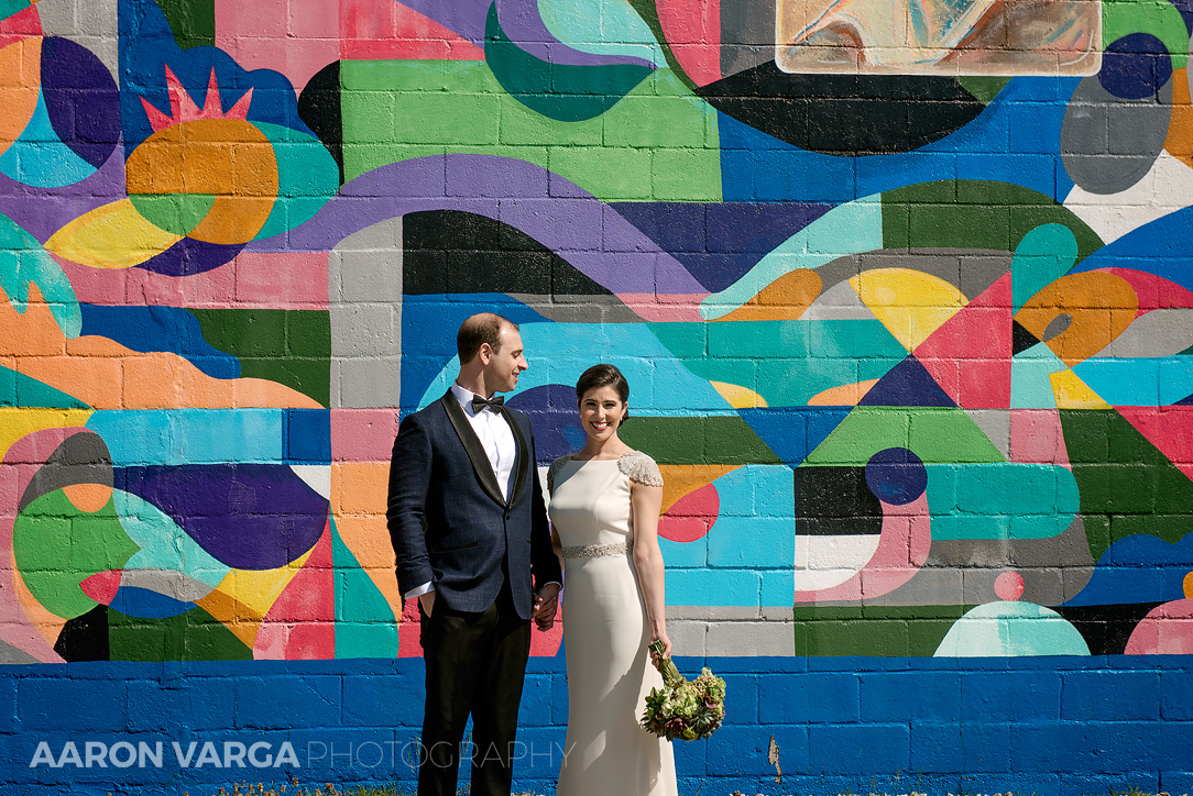 26 colorful south side mural - Mimi + Mike | Hotel Monaco and J. Verno Studios Wedding Photos