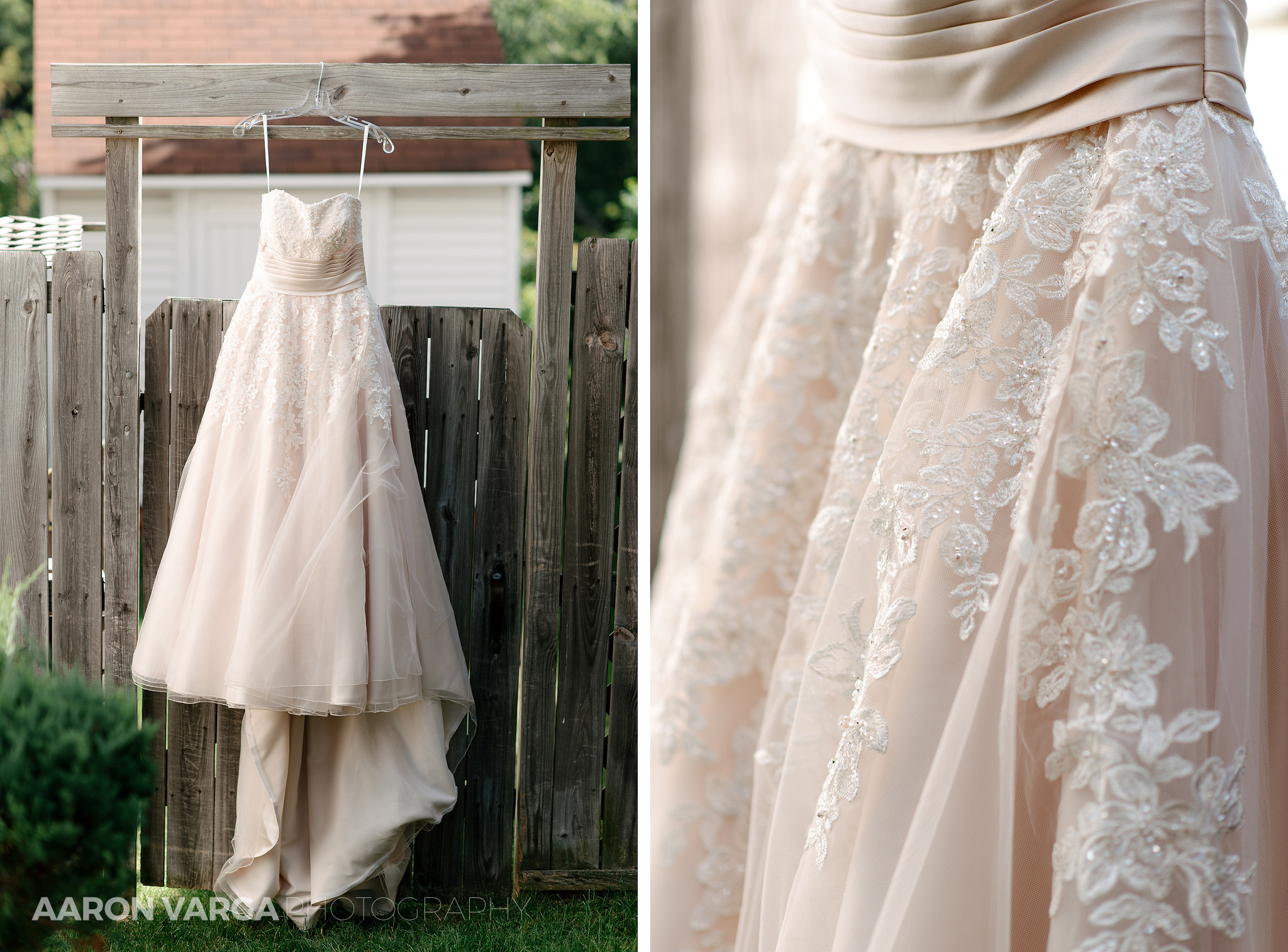 02 light pink wedding dress - Dina + Brendan | Southpointe Golf Club Wedding Photos