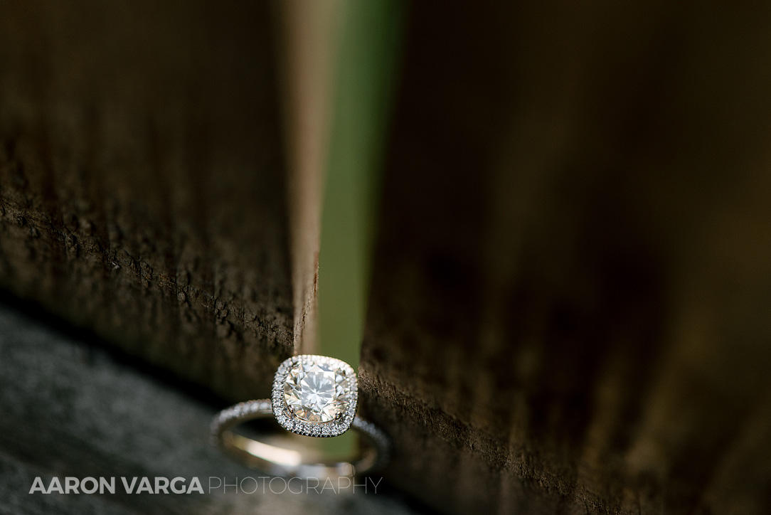 03 unique engagement ring photo - Dina + Brendan | Southpointe Golf Club Wedding Photos