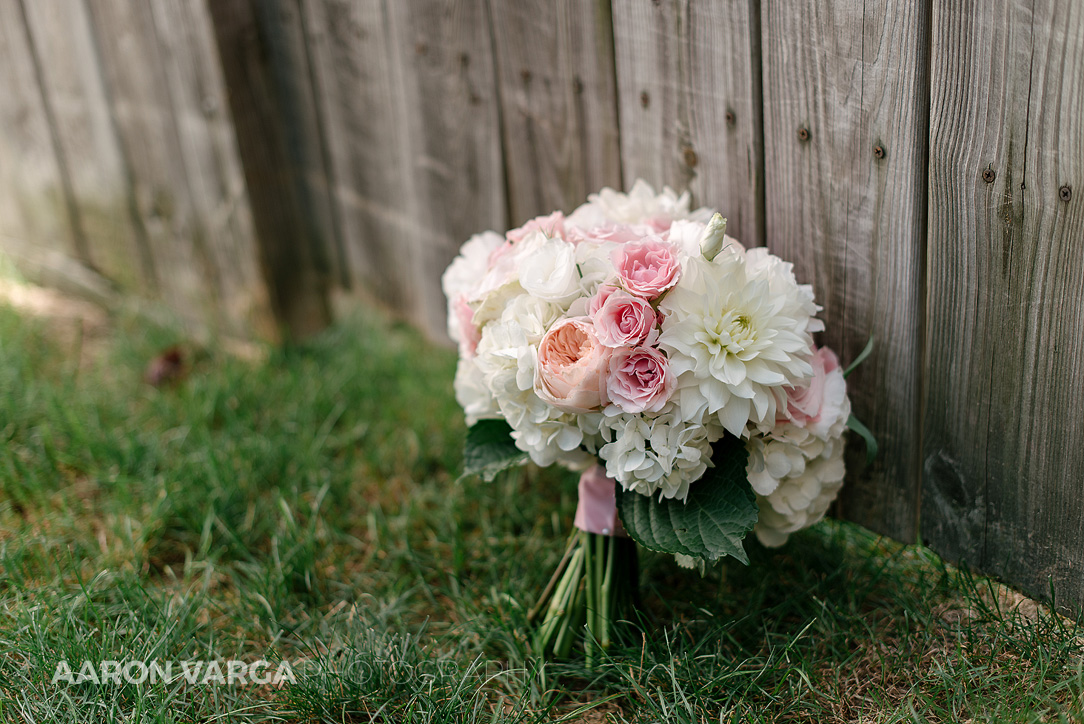06 pink white floral wedding bouquet - Dina + Brendan | Southpointe Golf Club Wedding Photos