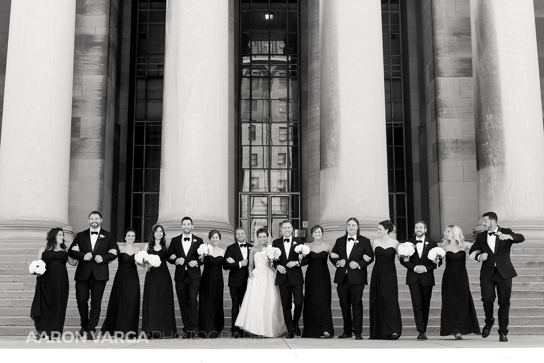12 mellon institute pillars wedding - Dina + Brendan | Southpointe Golf Club Wedding Photos