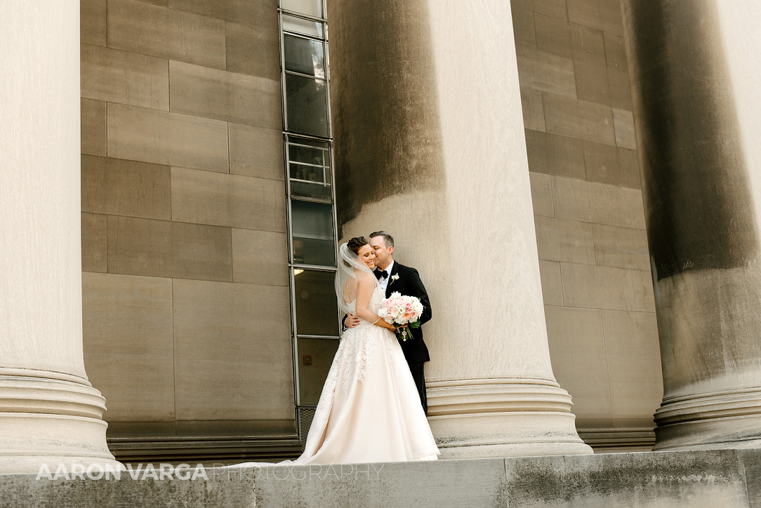 21 mellon institute pillars wedding photo - Dina + Brendan | Southpointe Golf Club Wedding Photos