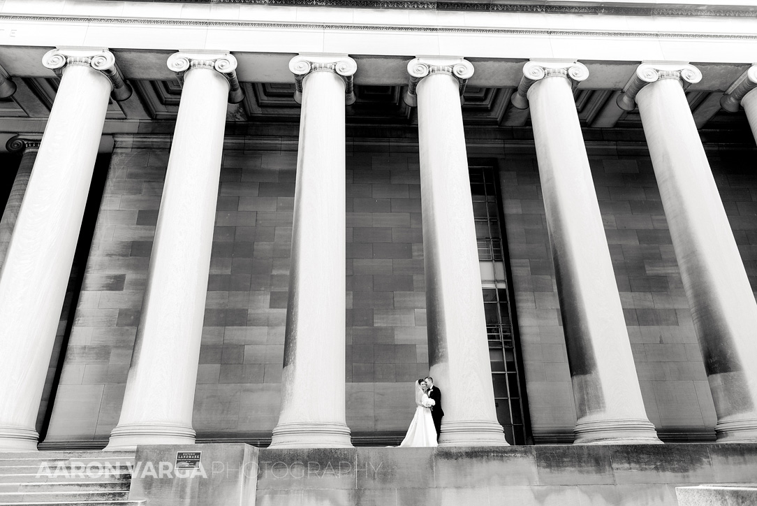 24 mellon institute pillars epic wedding - Dina + Brendan | Southpointe Golf Club Wedding Photos