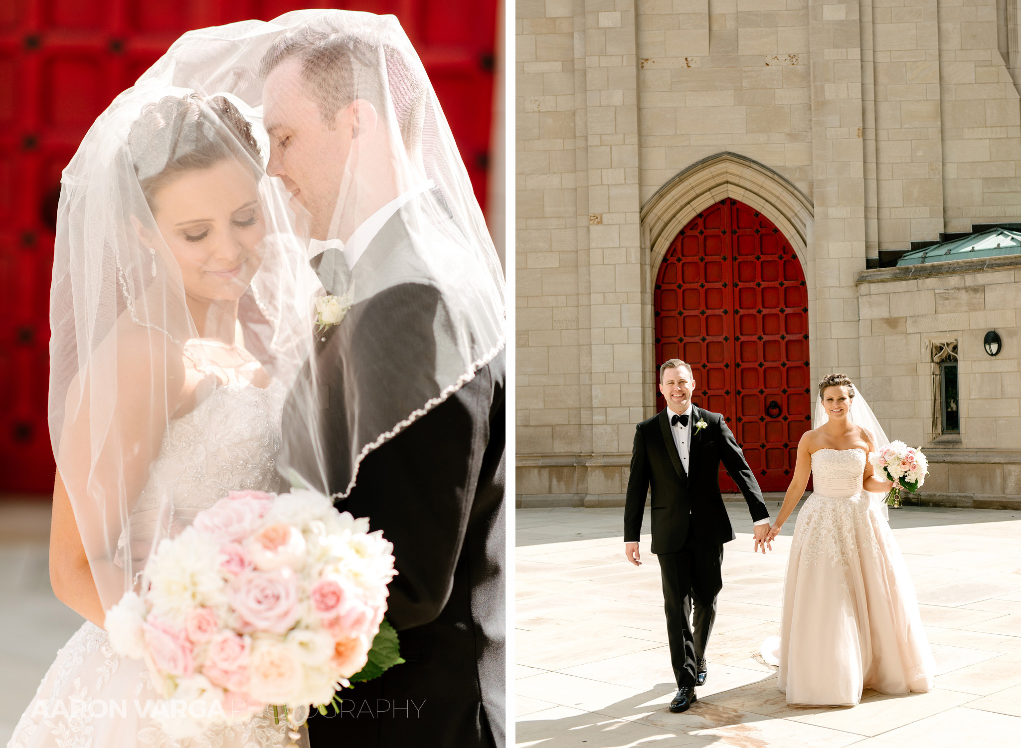 30 cathedral of learning red door - Dina + Brendan | Southpointe Golf Club Wedding Photos