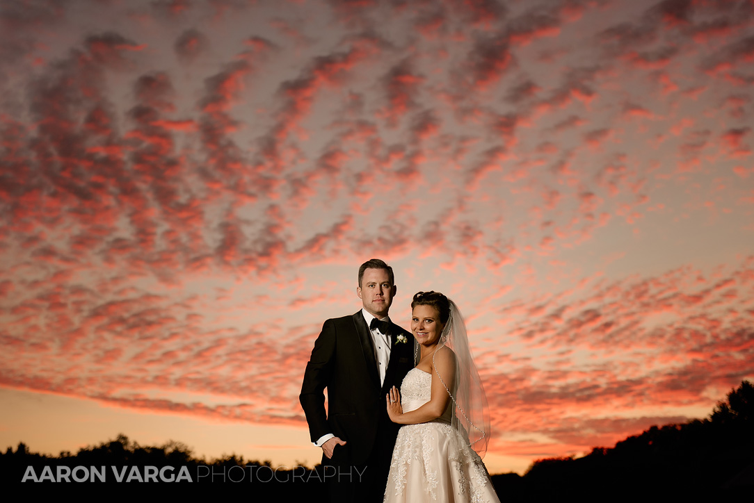 47 southpointe golf club wedding sunset - Dina + Brendan | Southpointe Golf Club Wedding Photos