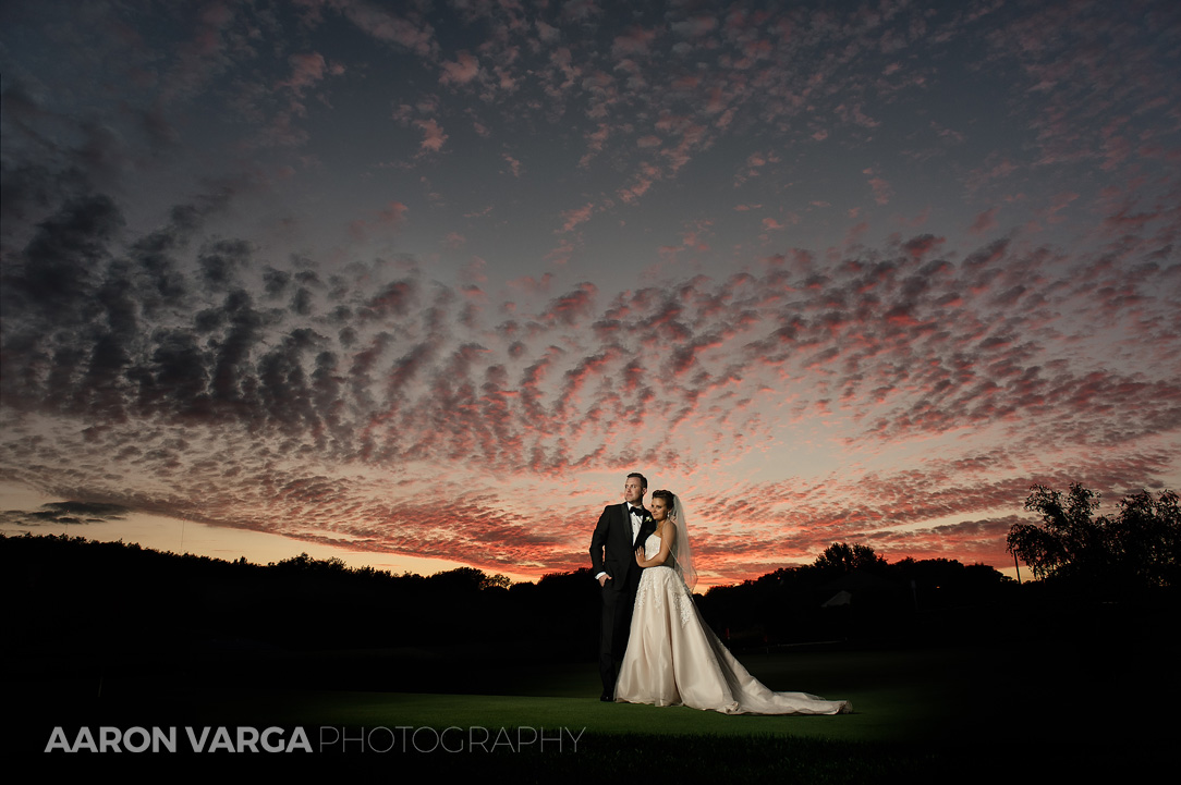 49 southpointe golf club epic sunset - Dina + Brendan | Southpointe Golf Club Wedding Photos