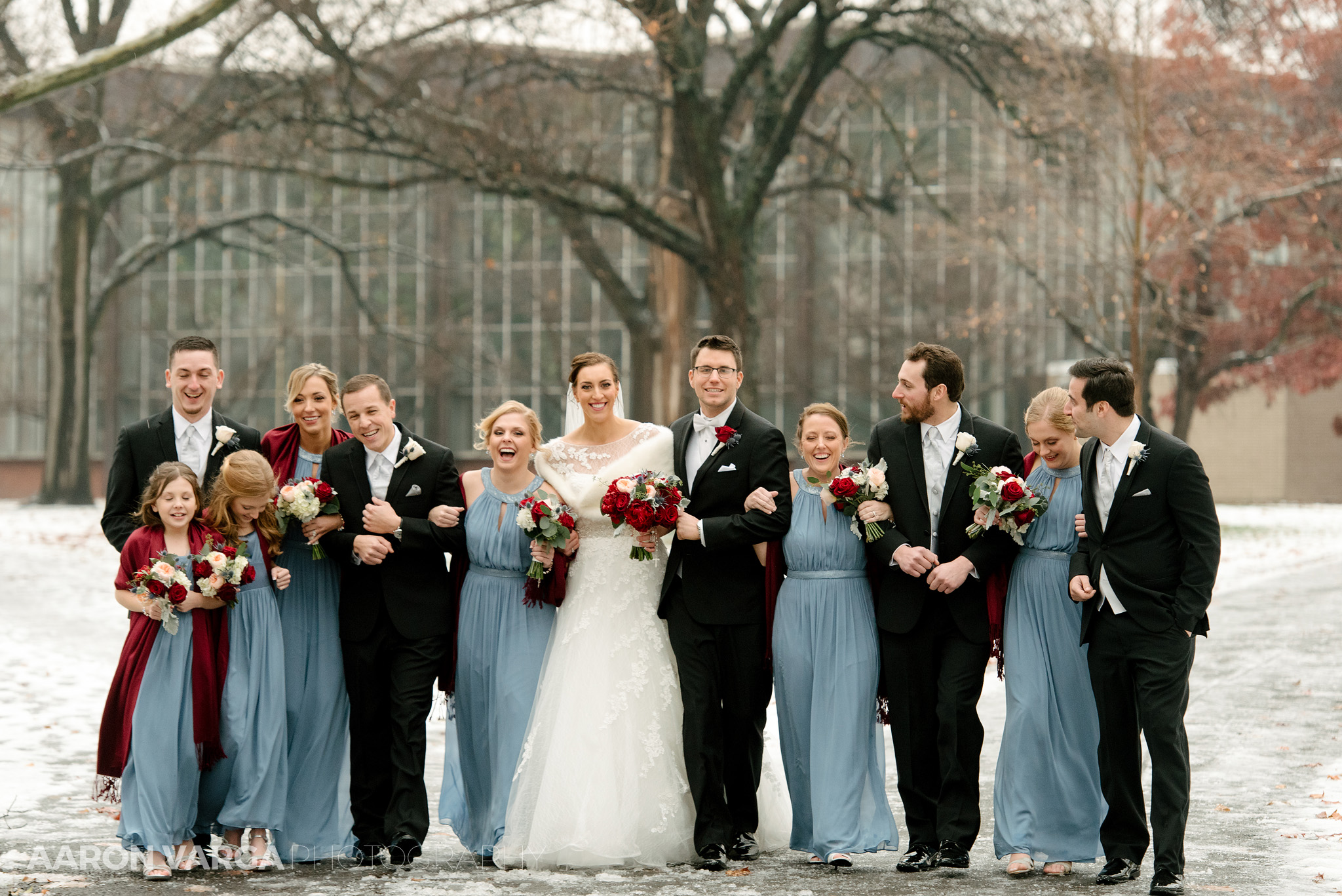 18 Bridal Party In Winter Wedding Colleen Zack At Pittsburgh Golf