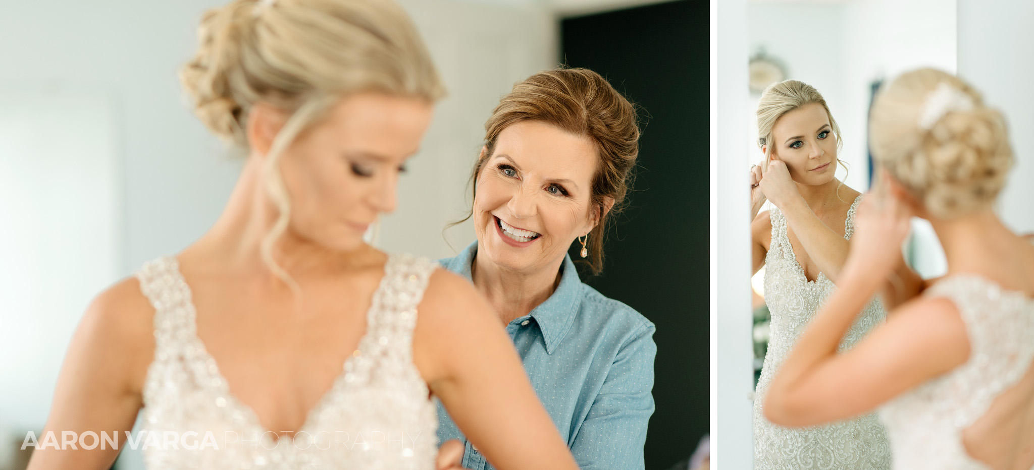 08 mom helping bride get ready - Amy + Bill | Montour Heights Country Club Wedding Photos