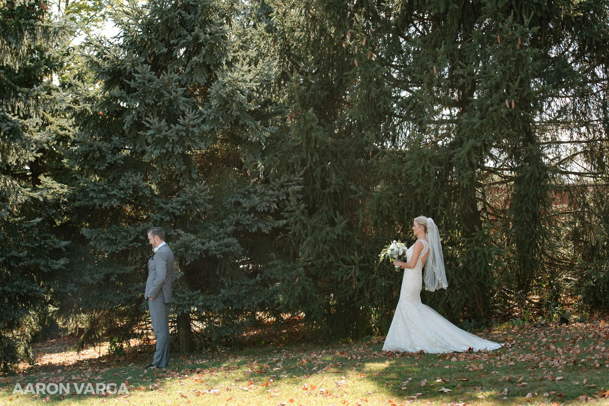 10 first look at wedding - Amy + Bill | Montour Heights Country Club Wedding Photos