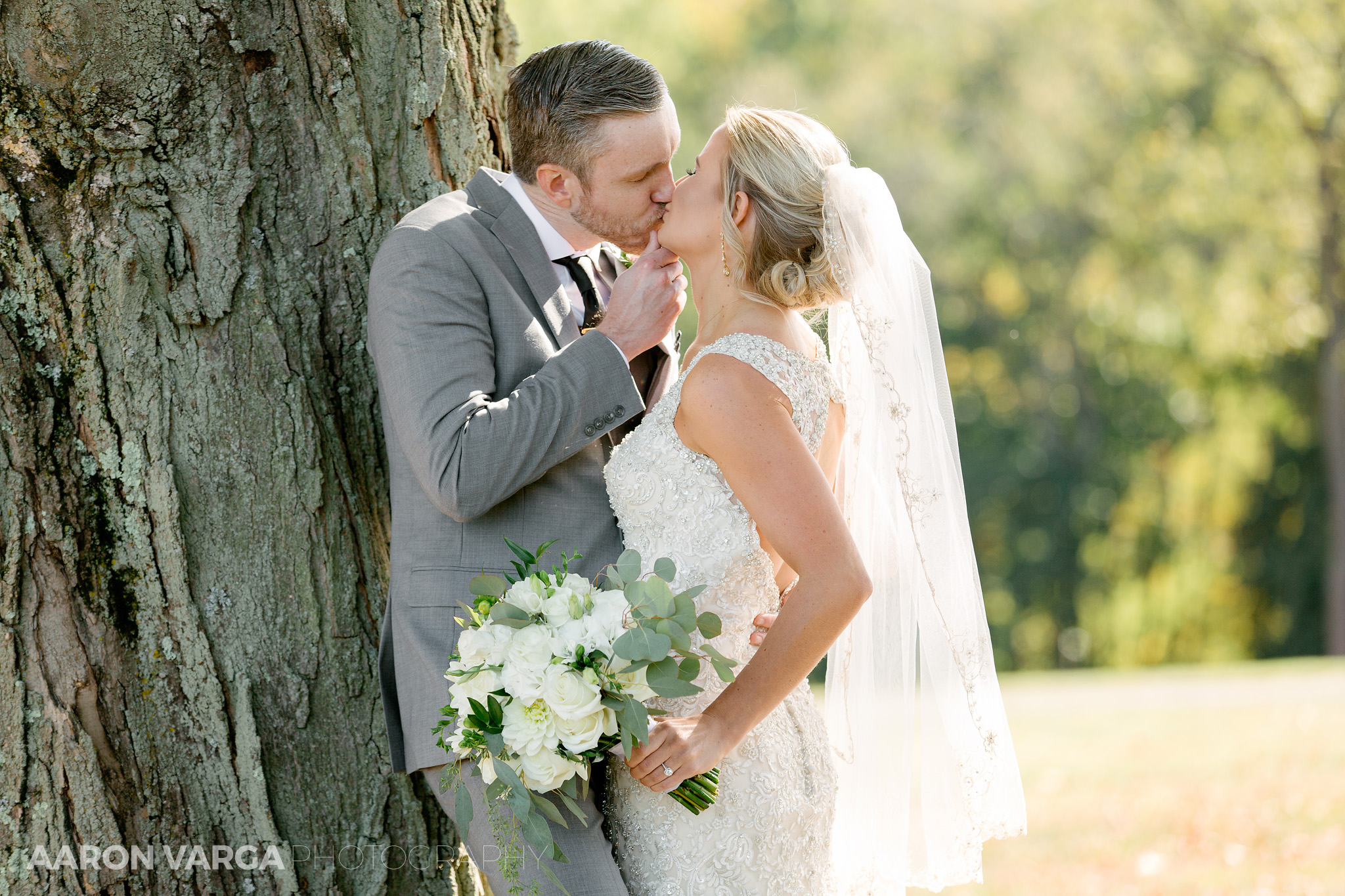 19 bride groom kissing montour heights - Amy + Bill | Montour Heights Country Club Wedding Photos