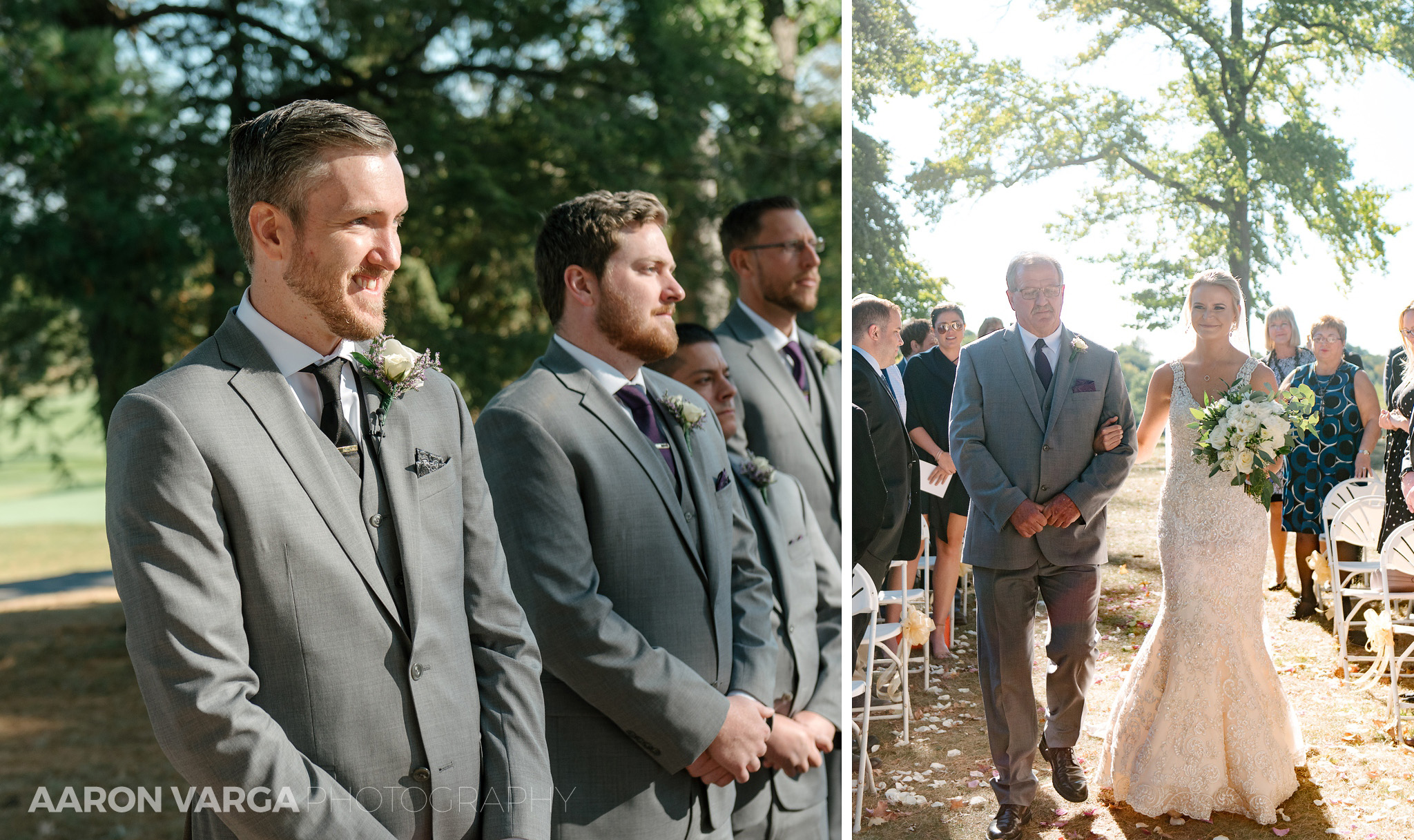 24 outdoor wedding ceremony - Amy + Bill | Montour Heights Country Club Wedding Photos