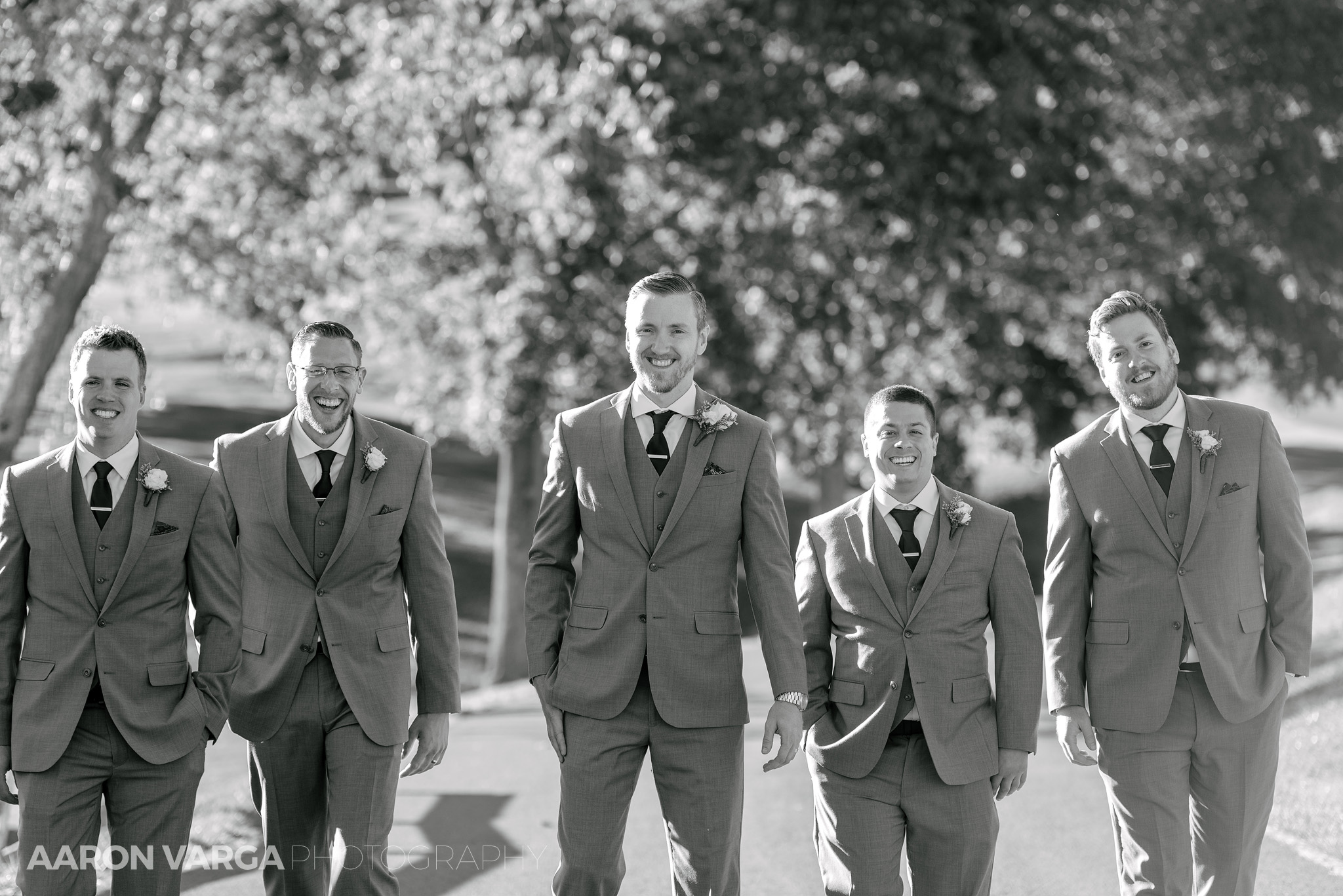34 groomsmen at wedding - Amy + Bill | Montour Heights Country Club Wedding Photos