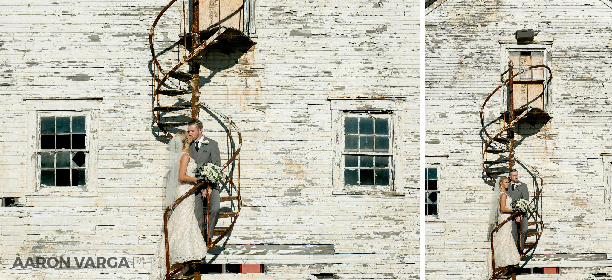 40 rusty stairs at montour heights country club - Amy + Bill | Montour Heights Country Club Wedding Photos