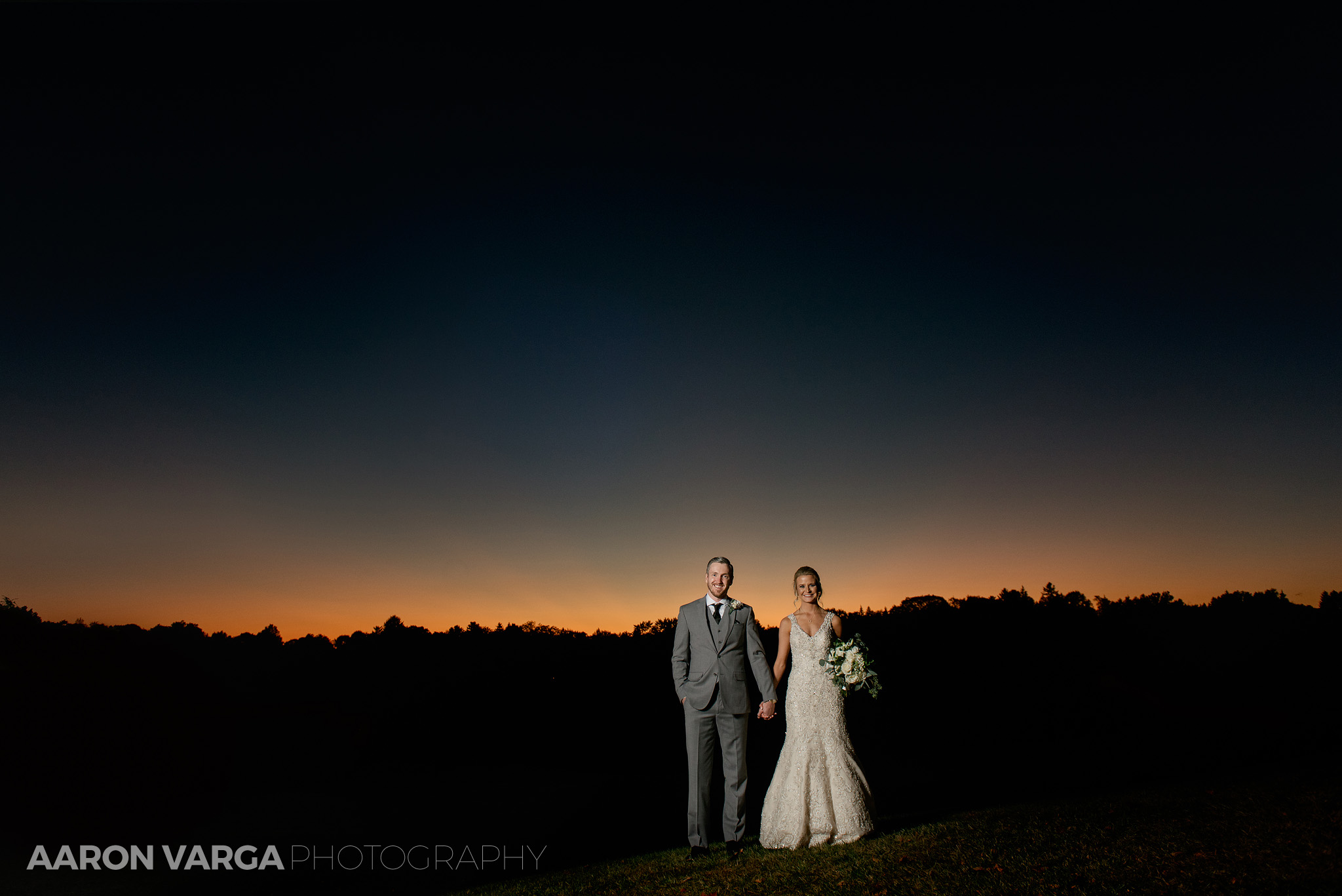 56 montour heights country club sunset - Amy + Bill | Montour Heights Country Club Wedding Photos