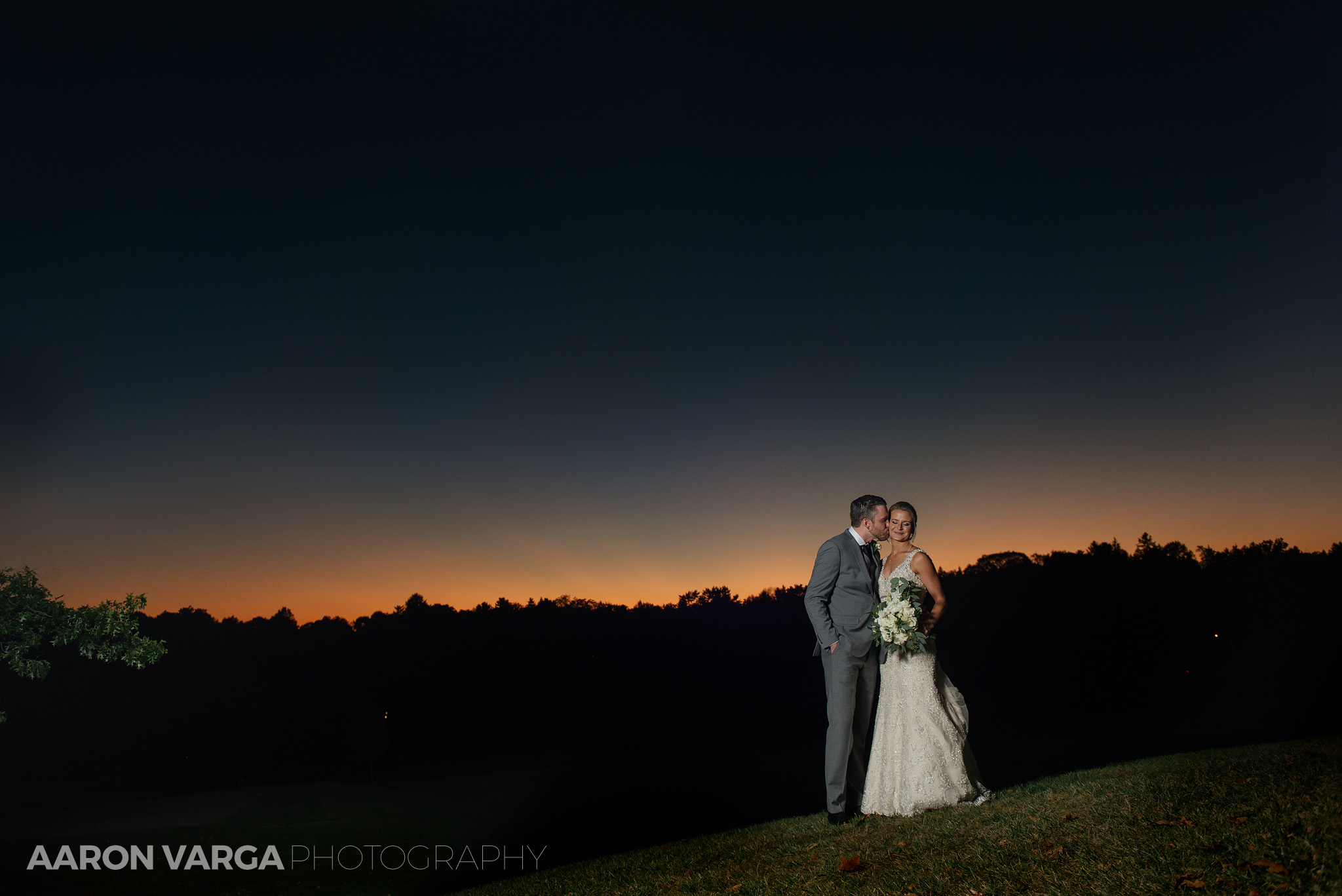 57 wedding sunset photos - Amy + Bill | Montour Heights Country Club Wedding Photos