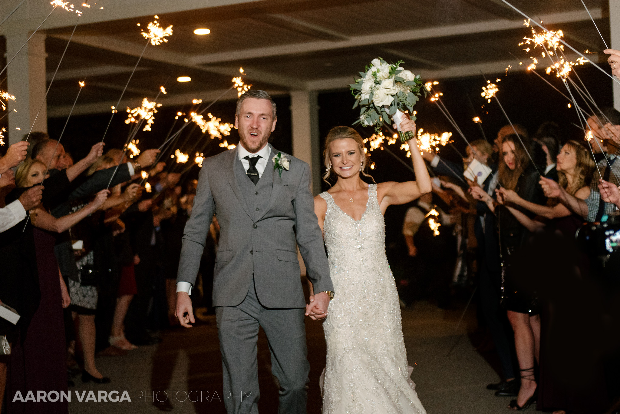 60 montour heights country club wedding sparkler exit - Amy + Bill | Montour Heights Country Club Wedding Photos