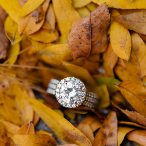 huge diamond engagement ring fall wedding