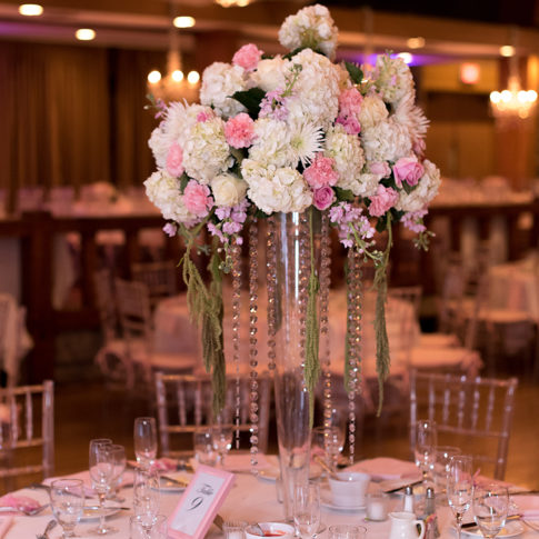 beautiful pink wedding details