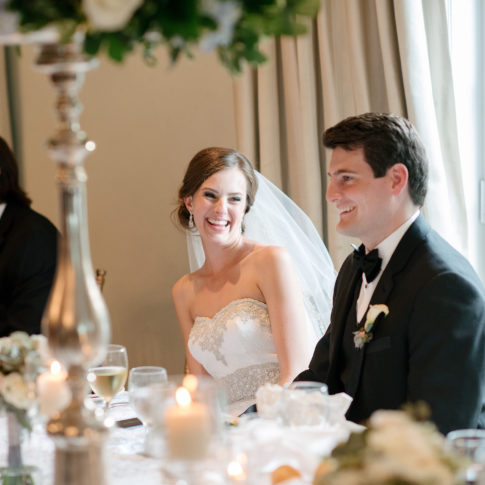 bride laughing speeches 485x485 - Longue Vue Club Wedding | Real Wedding | Megan + Robert