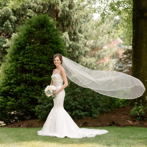 bride long veil 485x485 - Longue Vue Club Wedding | Real Wedding | Megan + Robert