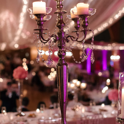 candelabra wedding details